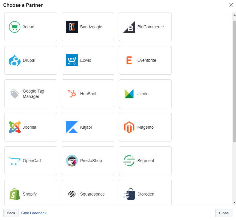 facebook pixel partner platform integration