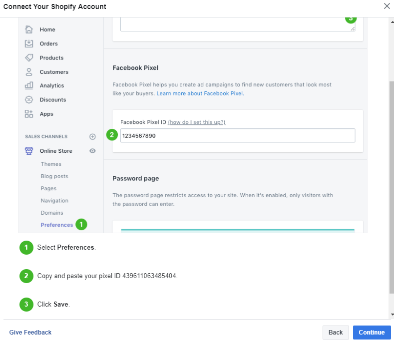 how to install facebook pixel on shopify